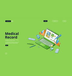 medical record electronic health report vector image