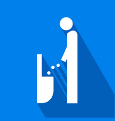 Men lavatory icon vector