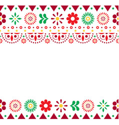 mexican greeting card on invitaitons vector image