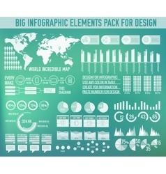 Modern big infographic elements chart set on vector image