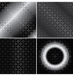 monochrome metallic patterns - set vector image