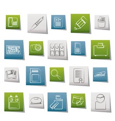 office tools icons vector image