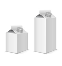 Paper milk and juice product pack containers vector