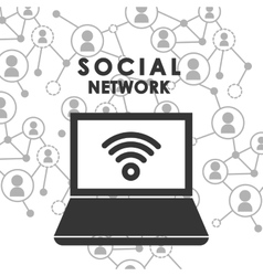 People connection design Social Network icon vector image