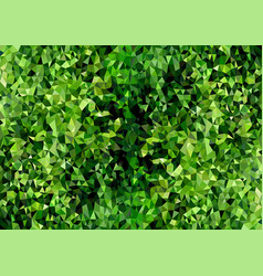 polygonal background texture green foliage vector image