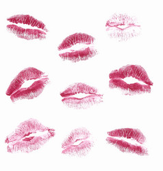 real kiss lipstick of female isolated vector image