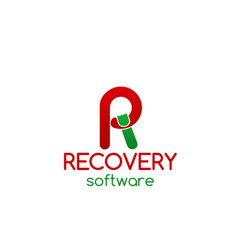 Recovery software icon vector