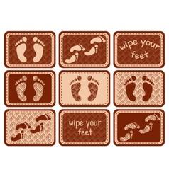 set of carpet at the door vector image