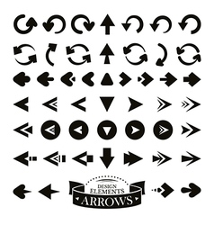 Set of different arrow icons vector image