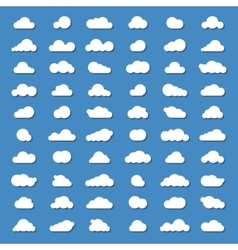 Sixty clound icons vector