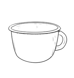 sketch of cup vector image