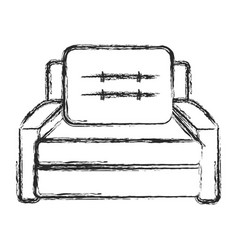 sofa armchair furniture image sketch vector image