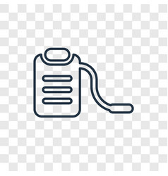 sprayer concept linear icon isolated on vector image