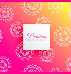 Stylish mandala pattern background design vector
