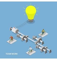 Team work flat isometric concept vector