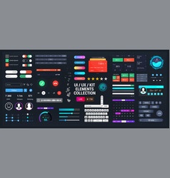template elements ui ux kit for web app and vector image