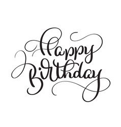 Text happy birthday on white background vector