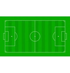 Textured grass soccer field Football green field vector image