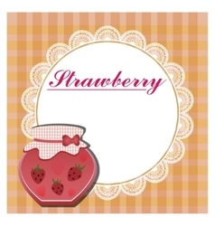 The label for the strawberry jam vector image