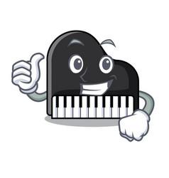 thumbs up piano character cartoon style vector image