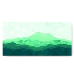 Triangle background with green mountain vector