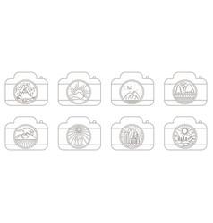 view through lens vector image