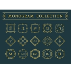 vintage monogram set vector image