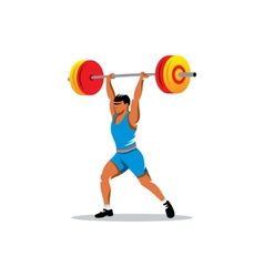 Weightlifting sign vector image