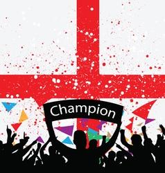 crowd cheer england vector image