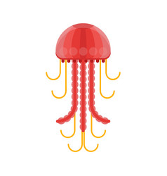 flat style of jelly fish vector image vector image