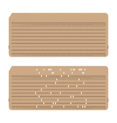 Punched cards Vintage computer data storage vector image
