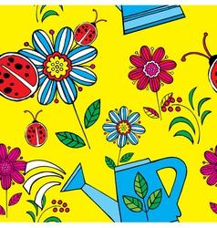 summer floral print pattern vector image vector image