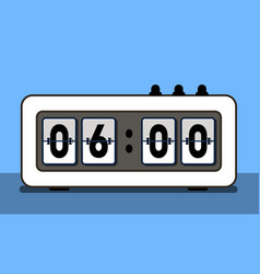 alarm clock with analog boarding font vector image