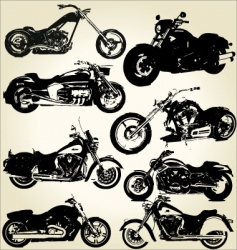 cruiser motorcycles vector image
