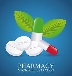green pharmacy design vector image