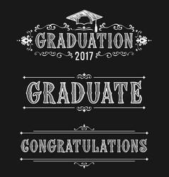 happy graduation day congratulations in victorian vector image