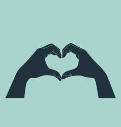 love gesture vector image