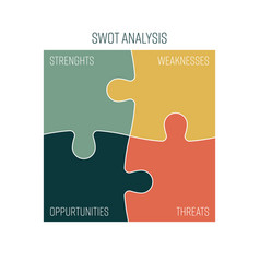 swot business infographic diagram or swot matrix vector image
