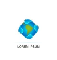 template water logo vector image