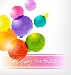 Watercolor Balloon Card vector image vector image