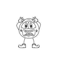 emoticon shock sketch vector image vector image