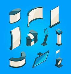 expo trading product stands for exhibition vector image