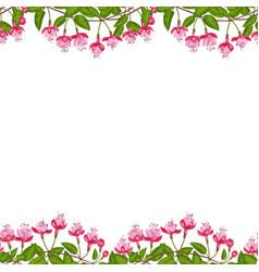 fuchsia seamless double border vector image vector image