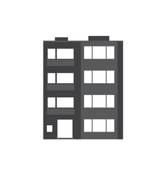 modern multistory house icon vector image vector image