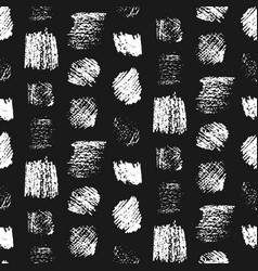 monochrome grunge scratched squares pattern vector image