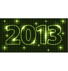 Neon New Year card 2013 vector image vector image