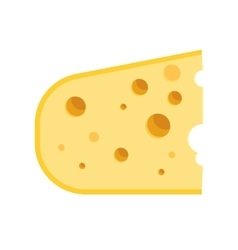 piece of cheese icon vector image vector image