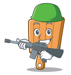 army kitchen board character cartoon vector image