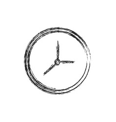 clock watch time icon sketch vector image