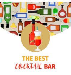cocktail bar banner vector image
